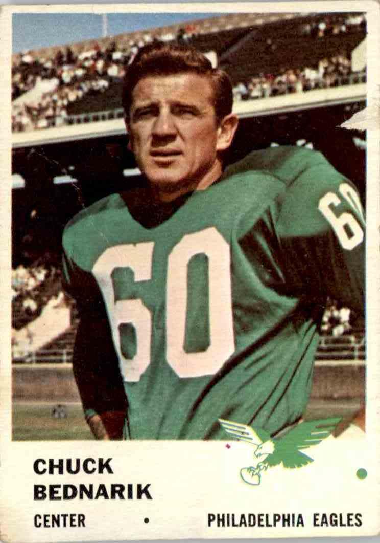 1961 Fleer Chuck Bednarik #55 card front image