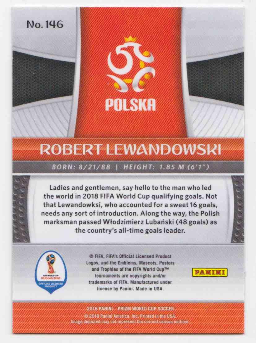 2018 PANINI PRIZM WORLD CUP SOCCER ROBERT LEWANDOWSKI BASE #146 POLAND