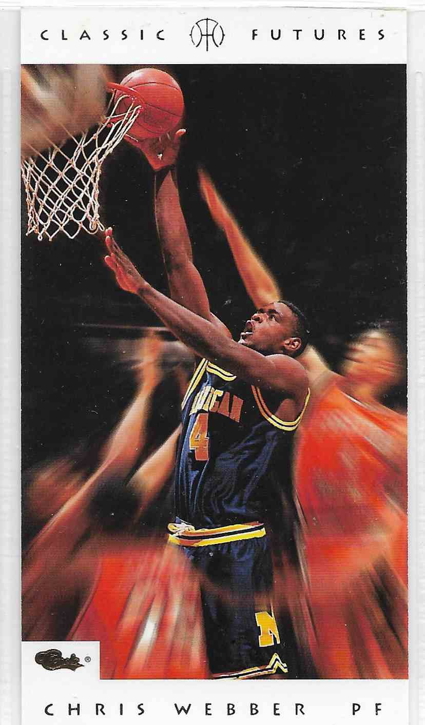 1993-94 Classic Futures Chris Webber #1 card front image