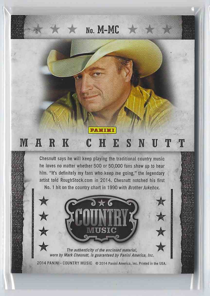 2015 Country Music Musician Materials Green Mark Chesnutt #M-MC card back image