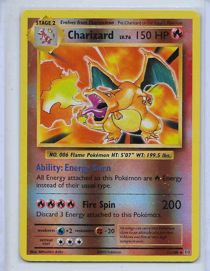 2016 Charizard Evolution Charizard #11/108 card front image