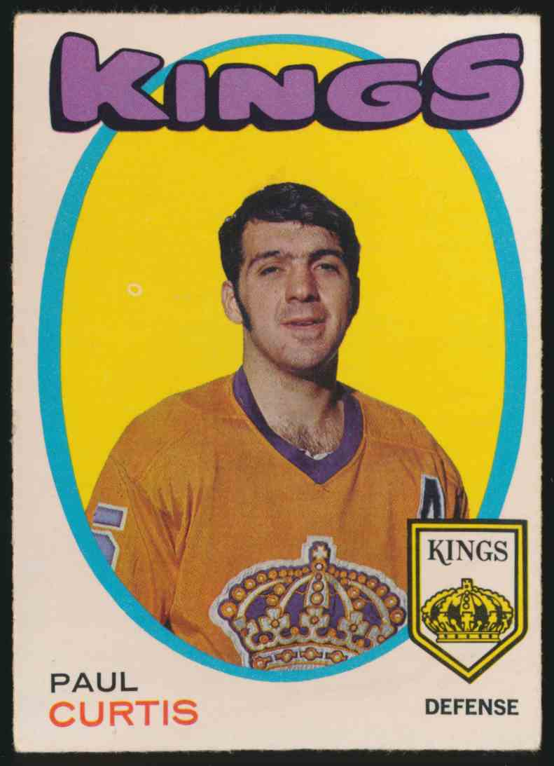 1971-72 O-Pee-Chee Paul Curtis #4 card front image