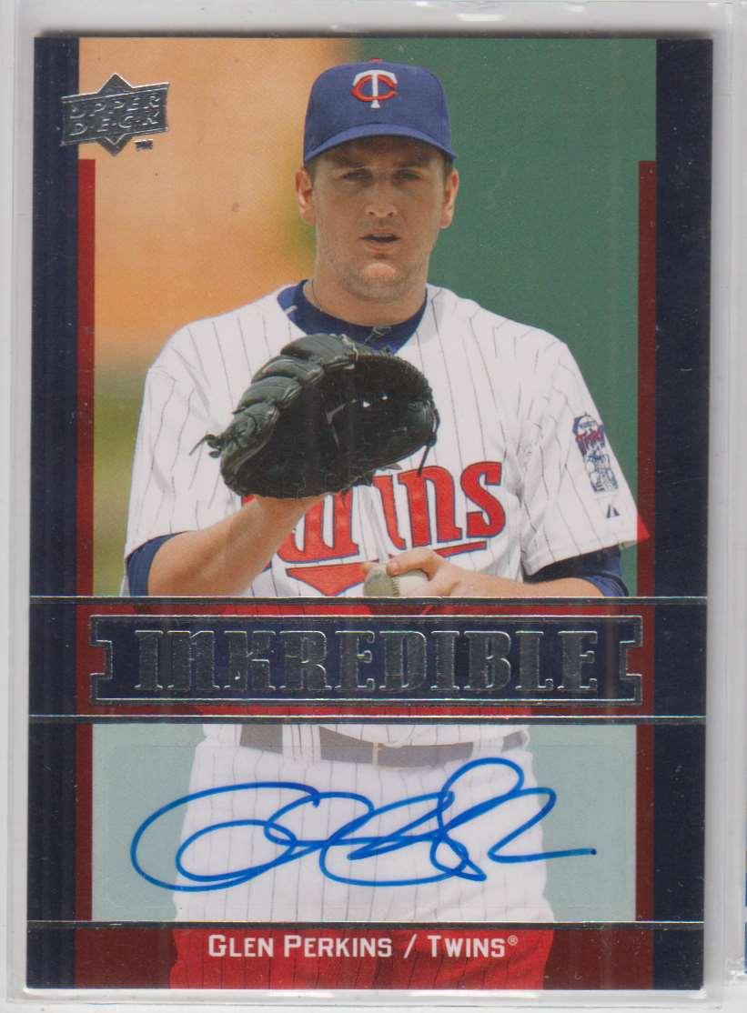 2009 Upper Deck Inkredible Glen Perkins #GP card front image