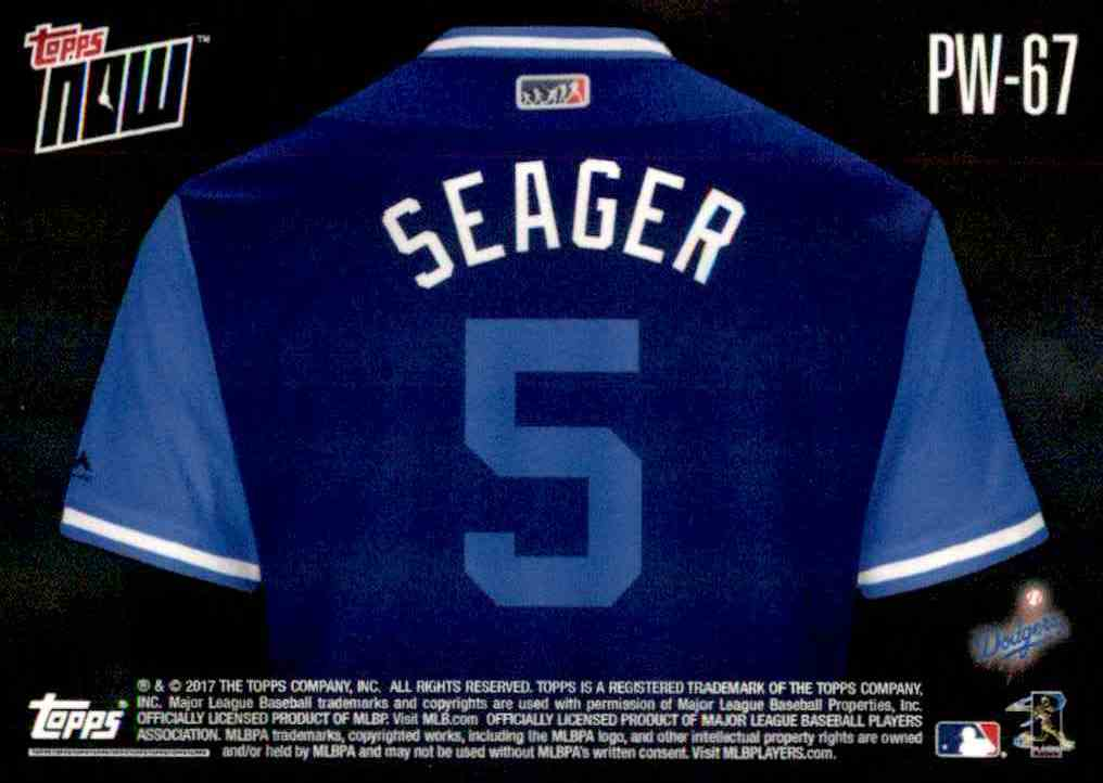 ad3608b1 Real card back image 2017 Topps Now Players Weekend Seager - Corey Seager # 67 card back image