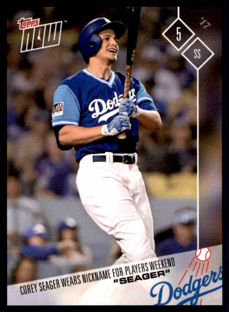 3fa5d472 2017 Topps Now Players Weekend Seager - Corey Seager #67 card front image