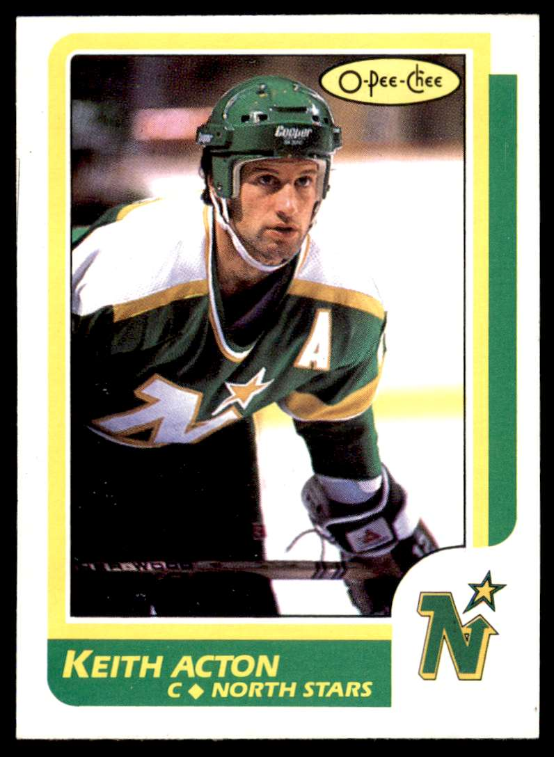 1986-87 OPC Keith Acton #172 card front image