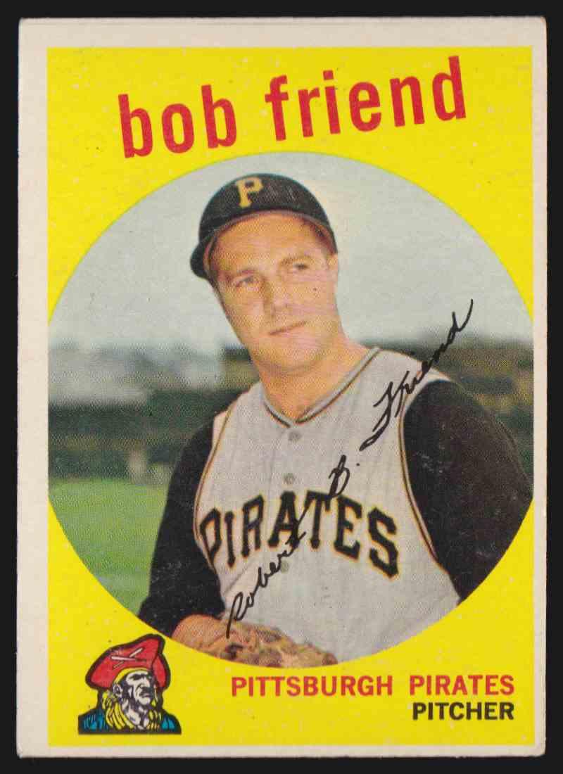 1959 Topps Bob Friend 460 On Kronozio