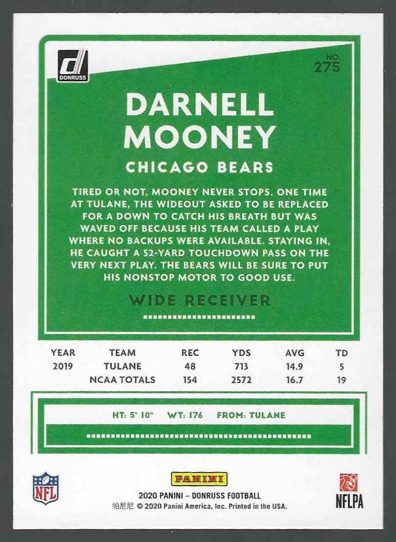 2020 Panini Base Darnell Mooney #275 card back image