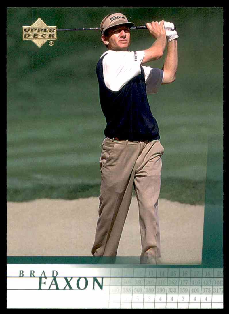 2001 Upper Deck Brad Faxon #32 card front image