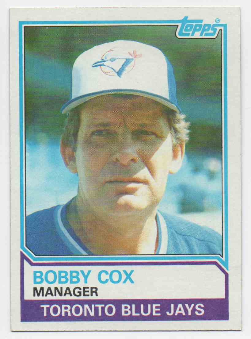 1983 Topps Bobby Cox #606 card front image