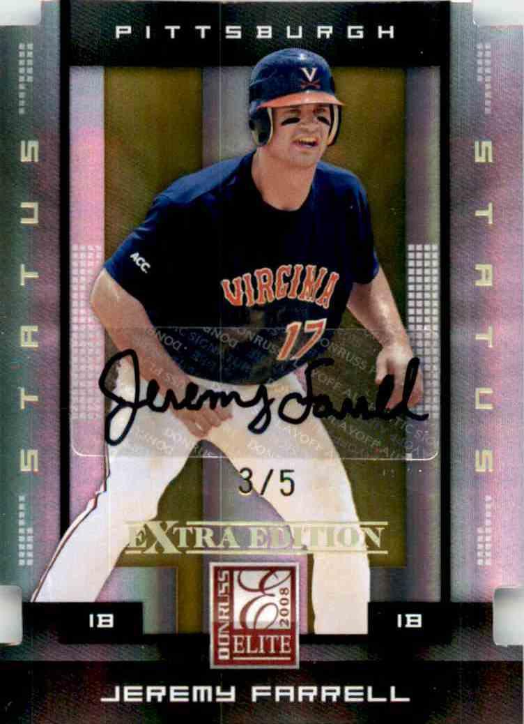 2008 Donruss Elite Extra Edition Signature Status Gold Jeremy Farrell #46 card front image