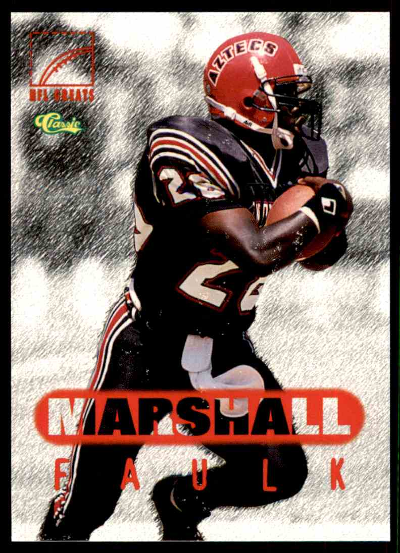1996 Nfl Players Inc Classic Nfl Rookies Marshall Faulk 79
