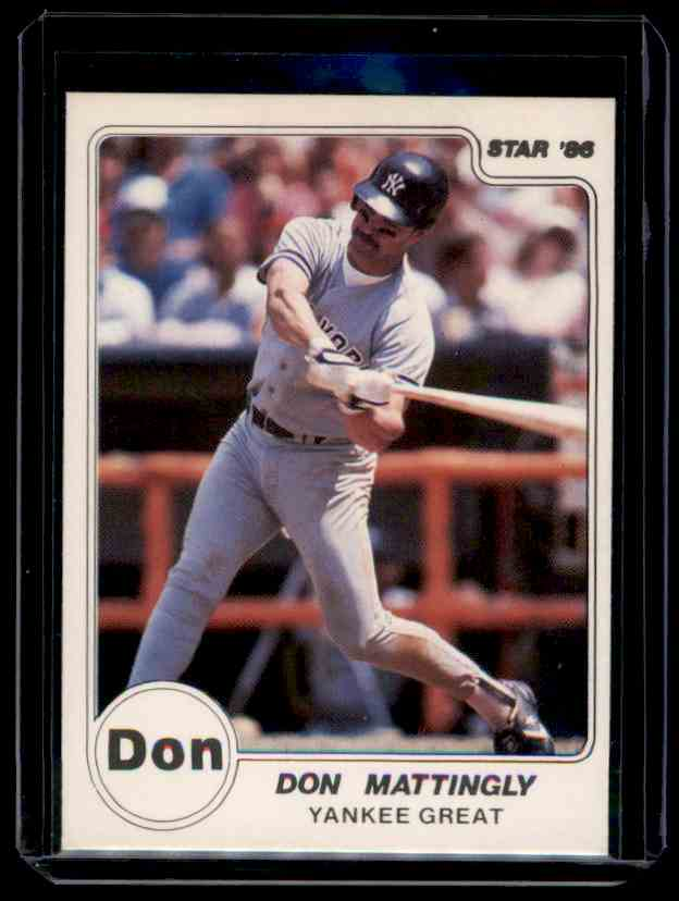 1986 Star Don Mattingly #N/A card front image