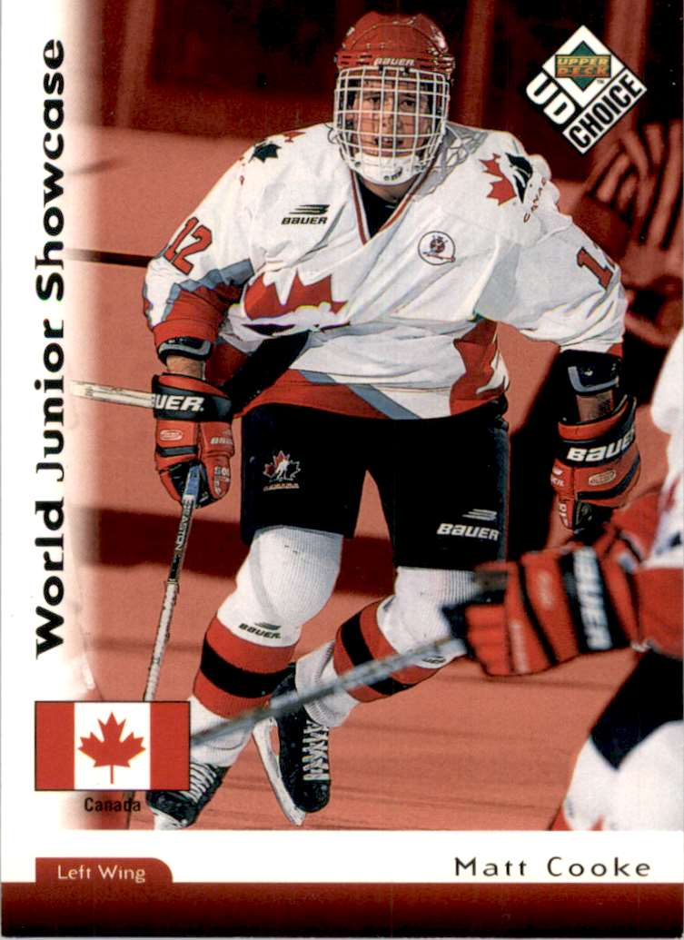 1998-99 UD Choice Matt Cooke RC #268 card front image