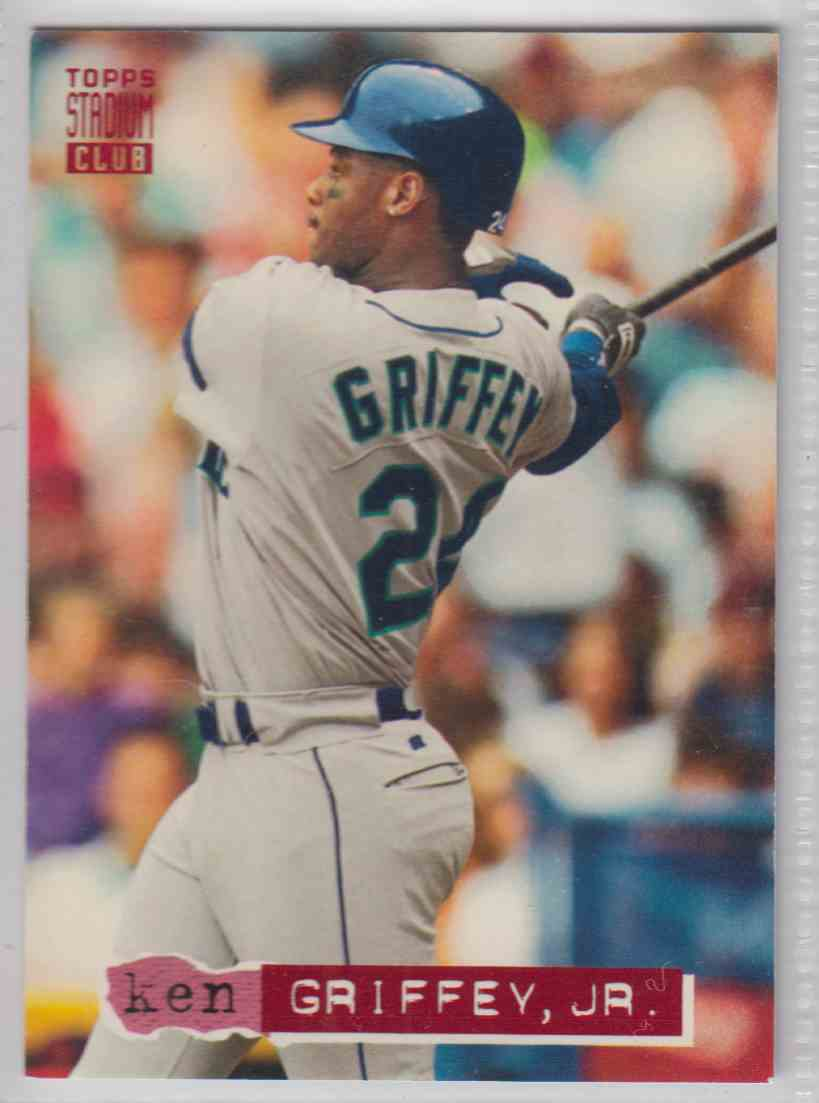 4c5bcd7e62 1994 Topps Stadium Club Ken Griffey JR. #85 card front image