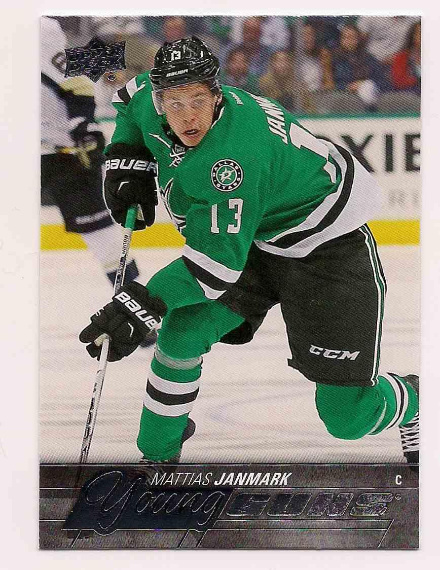 2015-16 Upper Deck Young Guns Mattias Janmark #244 card front image
