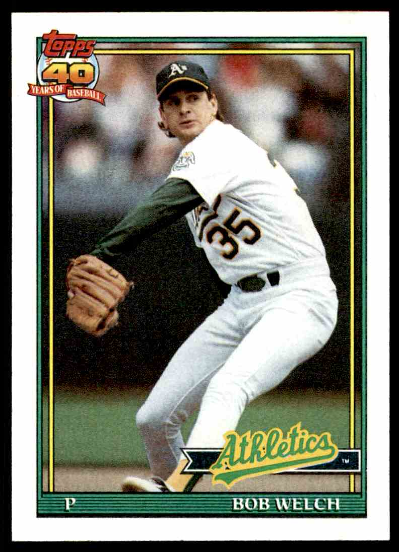 1991 Topps 40 Years Of Baseball Bob Welch 50 On Kronozio