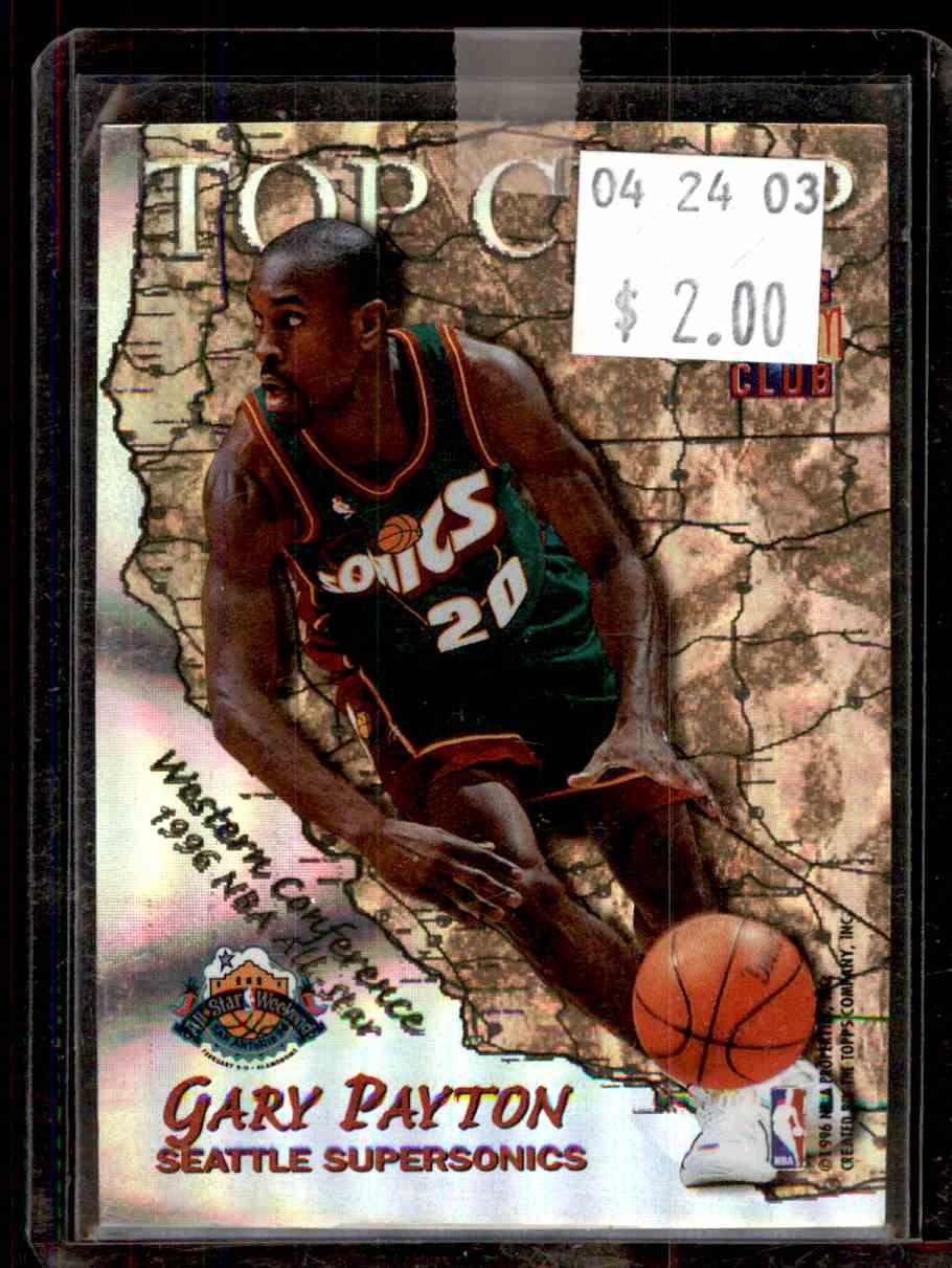 3965794b396c24 1996-97 Stadium Club Top Crop Michael Jordan Gary Payton  TC9