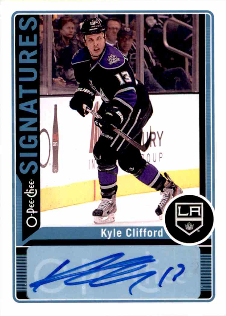 2012-13 O-Pee-Chee Signatures Kyle Clifford #OPC-KC card front image