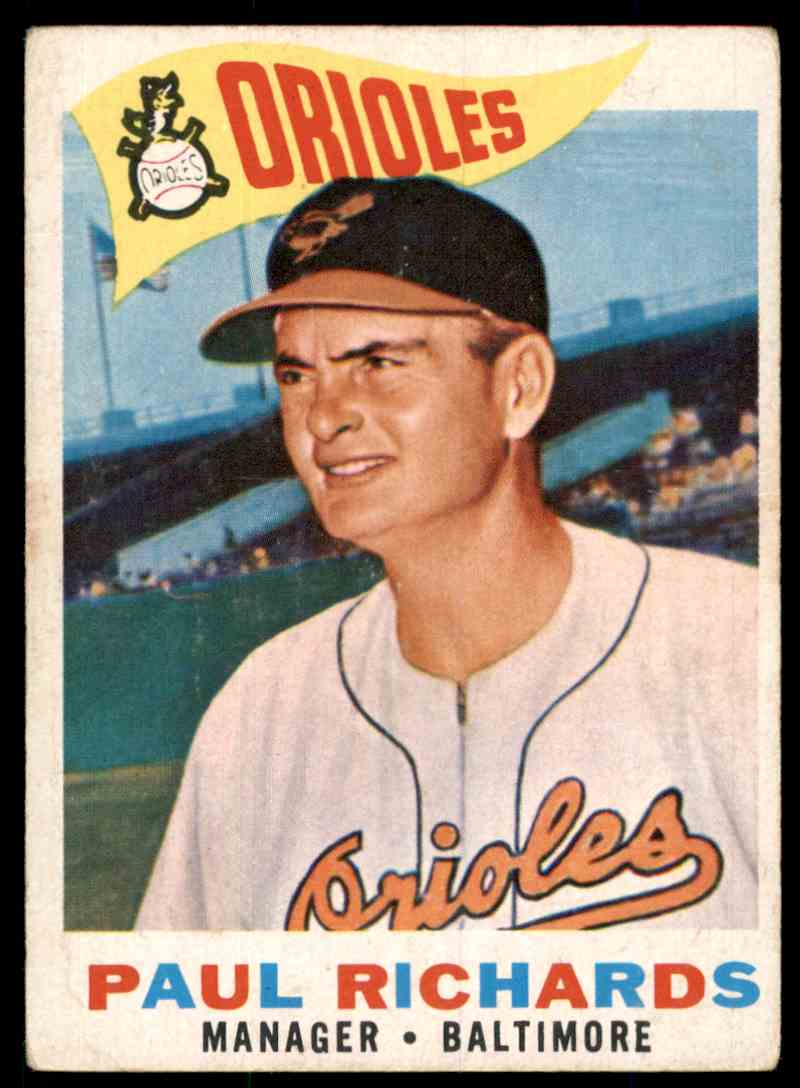 1960 Topps Paul Richards Mg #224 card front image