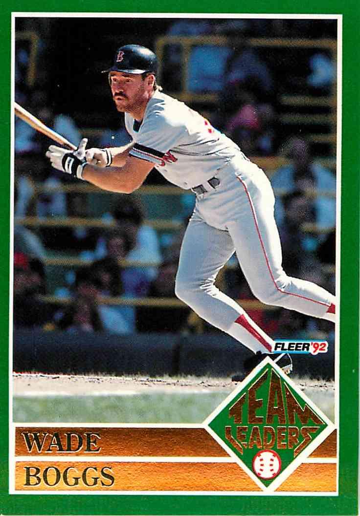 973bbaa256 1992 Fleer Team Leaders Wade Boggs #13 OF 20 card front image