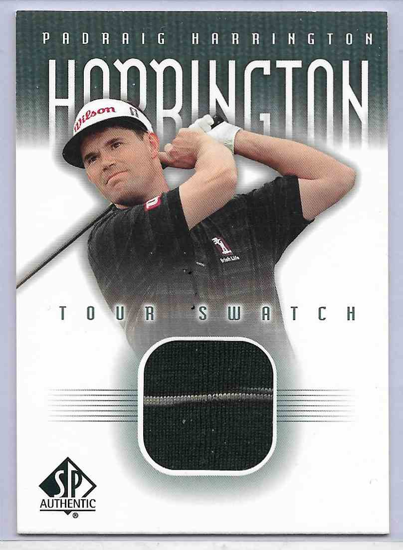2001 SP Authentic Padhaig Harrington #PH-TS card front image