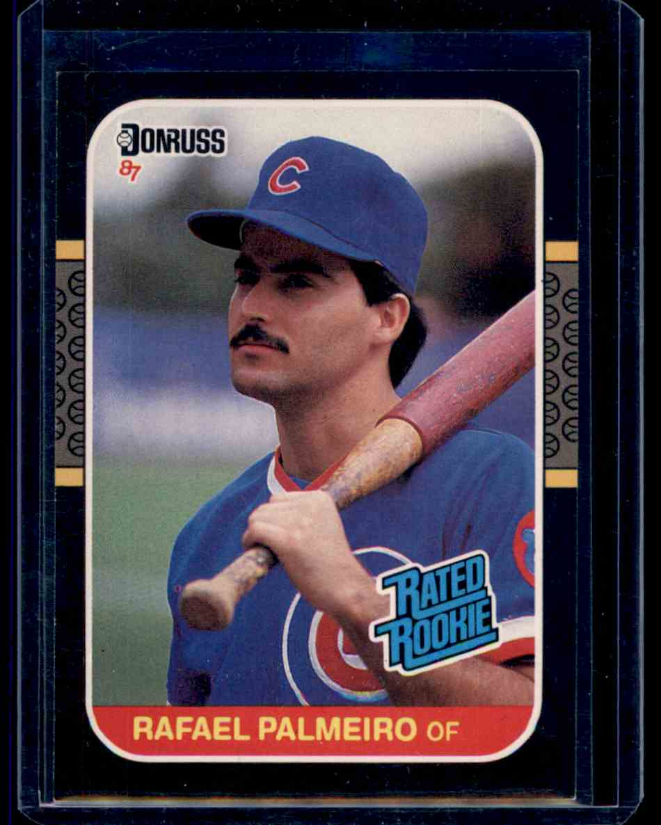 1987 Donruss Rated Rookie Rafael Palmeiro On Kronozio