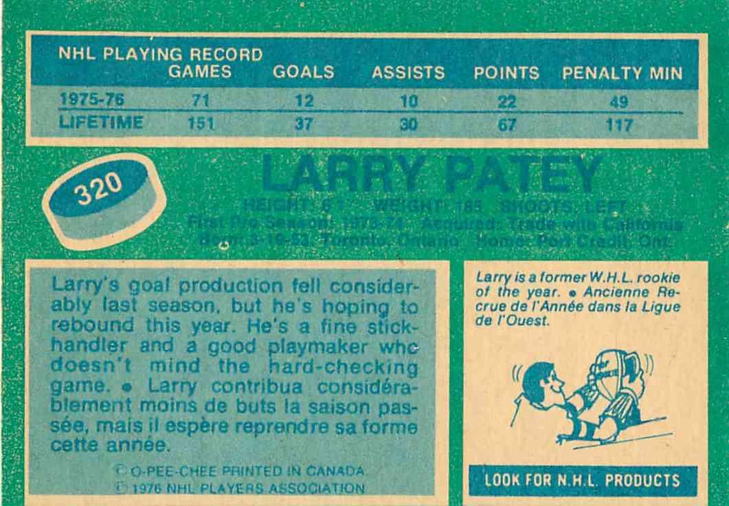 1976-77-O-Pee-Chee-Larry-Patey-320
