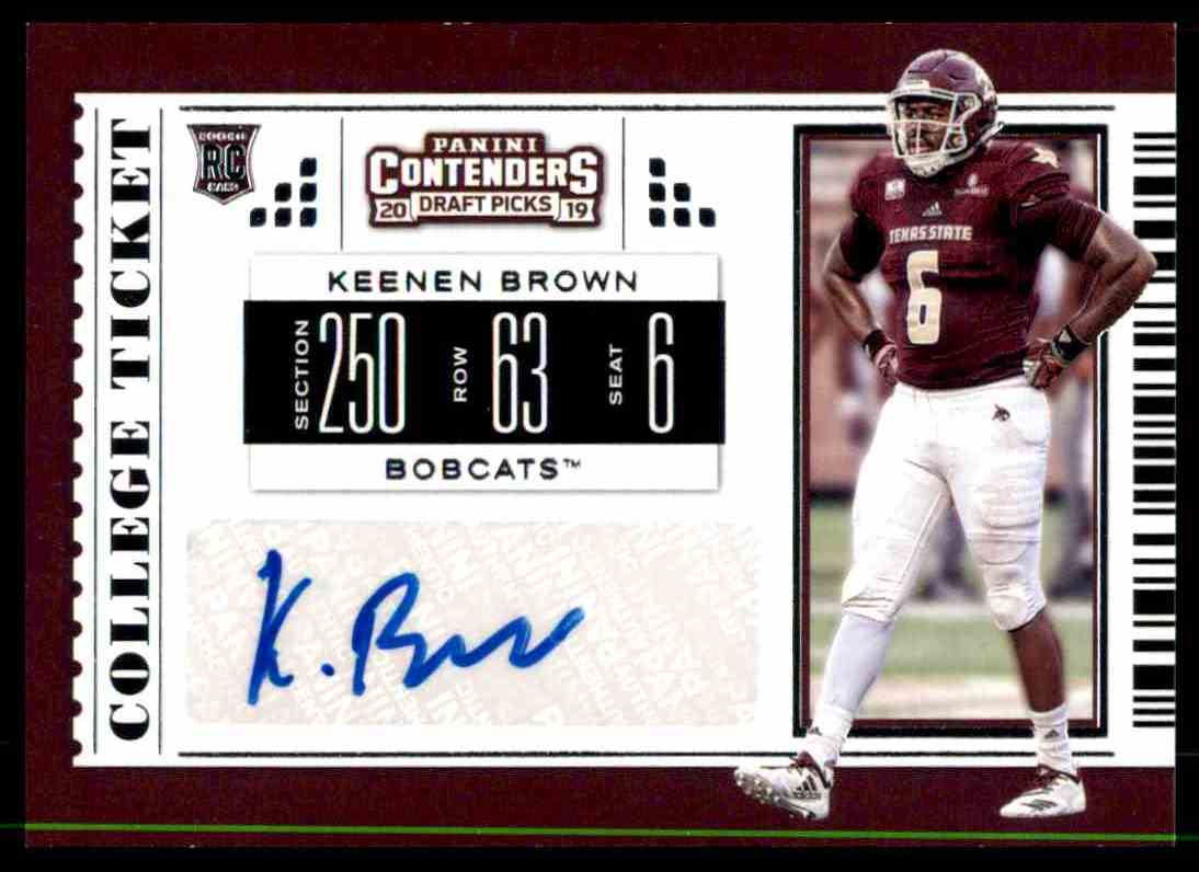 lowest price a3b74 e8bb4 2019 Contenders Draft College Ticket Keenan Brown on ...