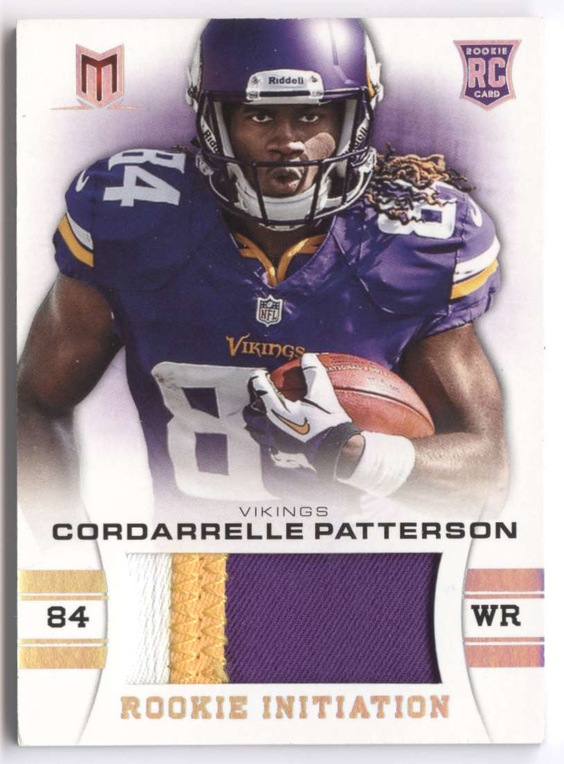 2013 Panini Momentum Rookie Initiation Materials Prime Cordarrelle Patterson #18 card front image