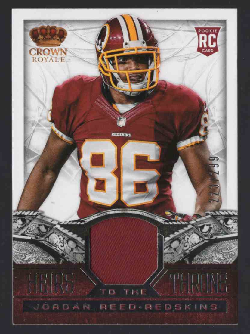 2013 Crown Royale Heirs To The Throne Materials Jordan Reed #14 card front image