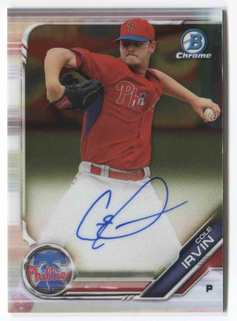 2019 Bowman Chrome Prospects Prospects Autographs Cole Irvin #CPA-CI card front image