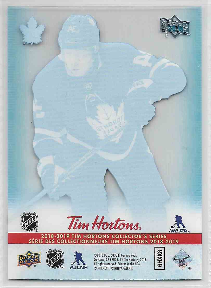 2018-19 Upper Deck Tim Horton Auston Matthews #CC-15 card back image