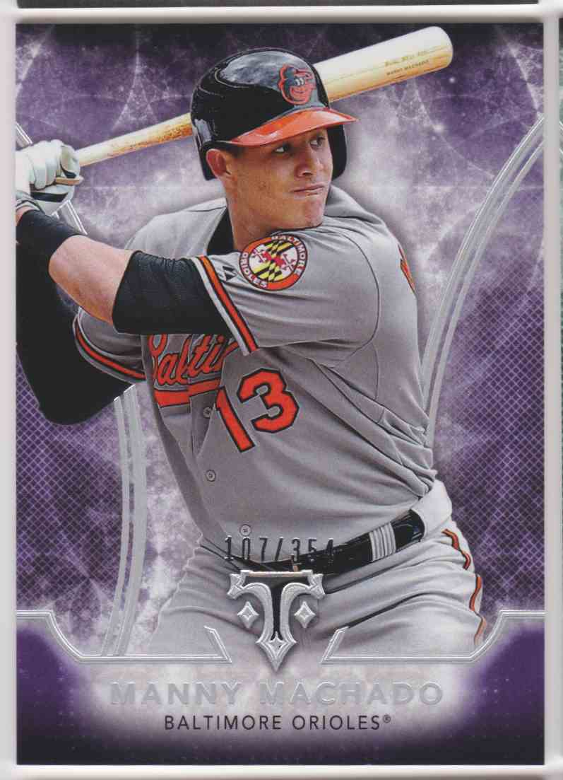 2015 Topps Triple Threads Amethyst Manny Machado #82 card front image