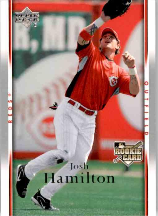 2007 Upper Deck Josh Hamilton (Rc) #630 card front image