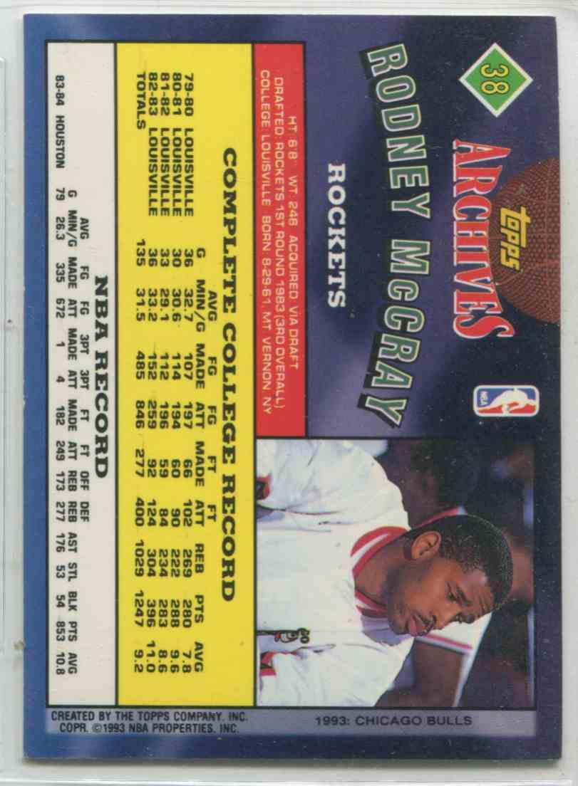 1993 94 Topps Archives Rodney McCray 38 on Kronozio