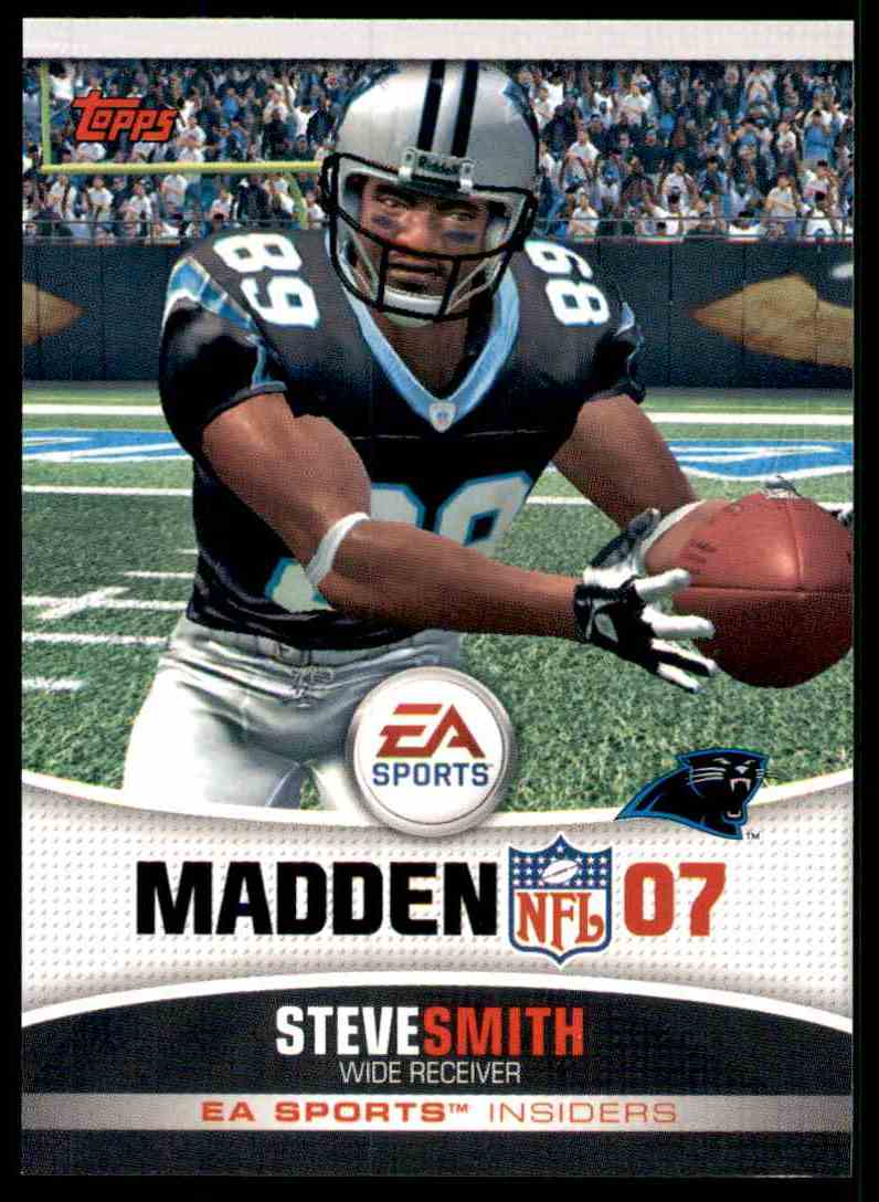 2006 Topps Ea Sports Madden Steve Smith #15 card front image