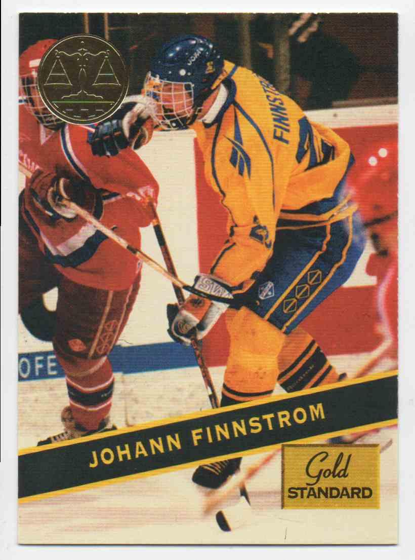 1994-95 Signature Rookies Gold Standard Johann Finnstrom #84 card front image