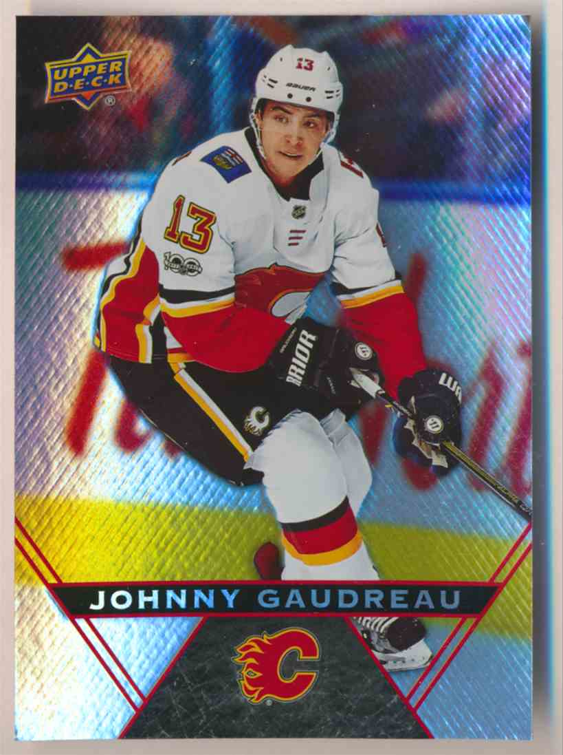 2018-19 Upper Deck Tim Hortons Johnny Gaudreau #13 card front image