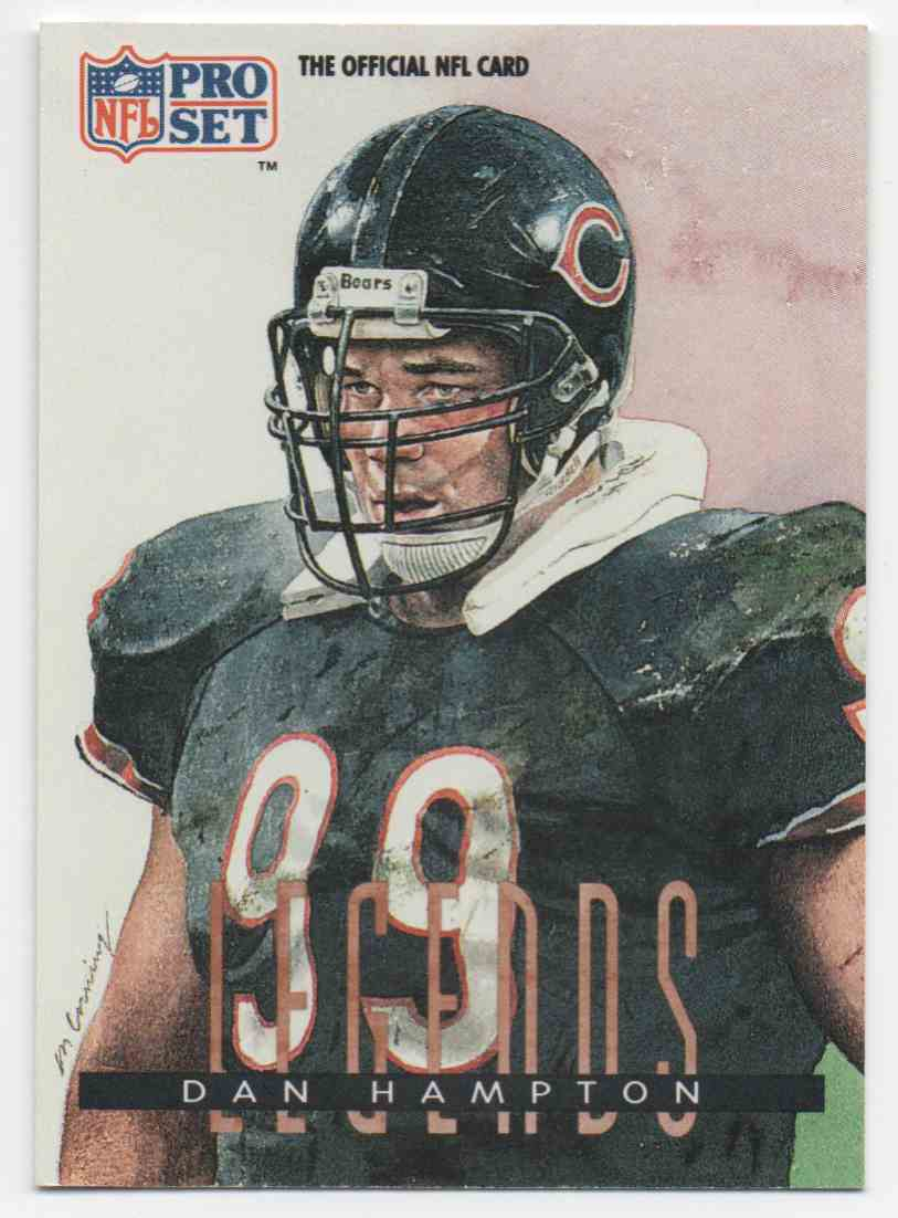 1991 Pro Set Dan Hampton #696 card front image