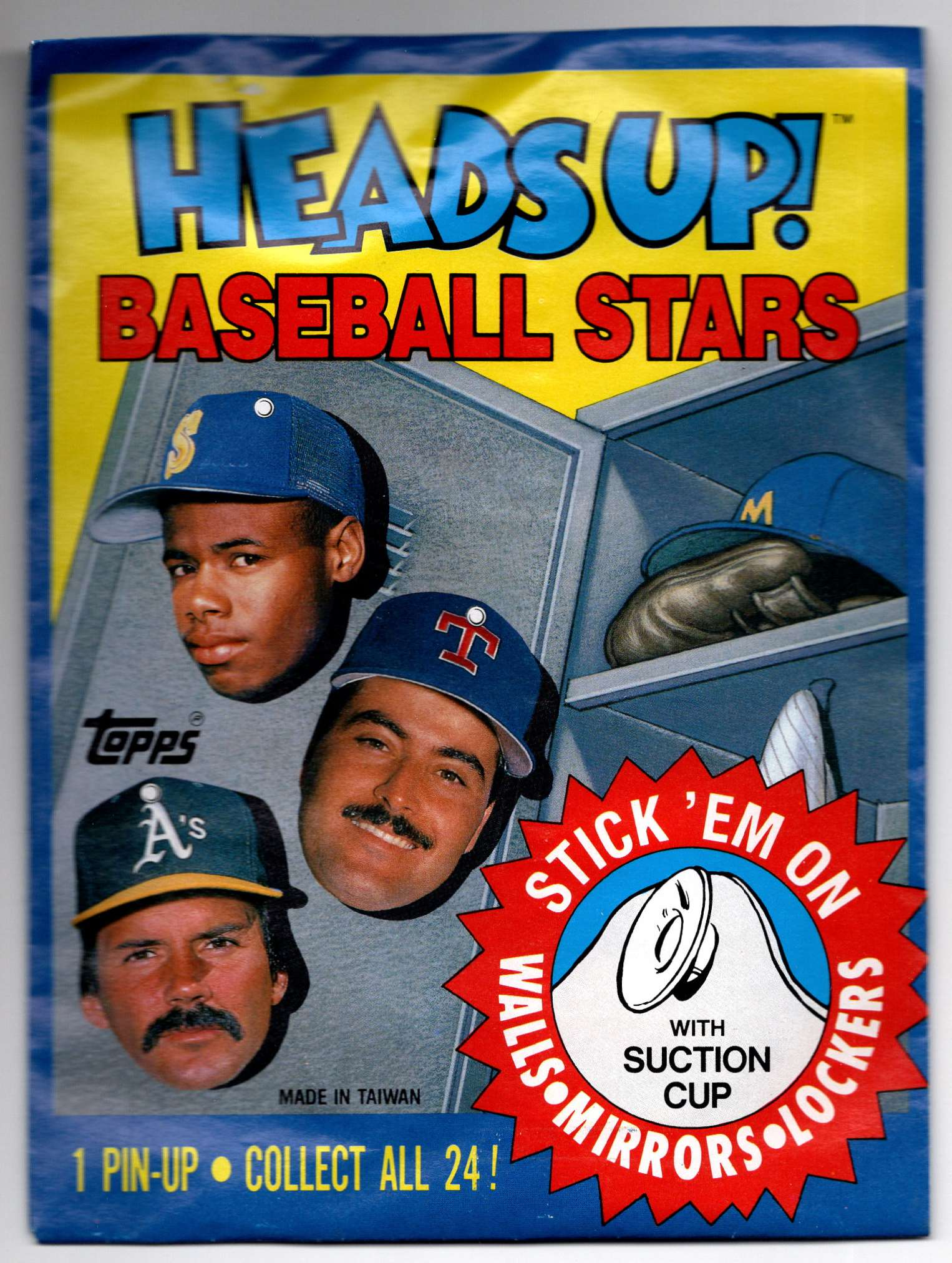 1990 Topps Heads Up Unopened Pack #1 card front image
