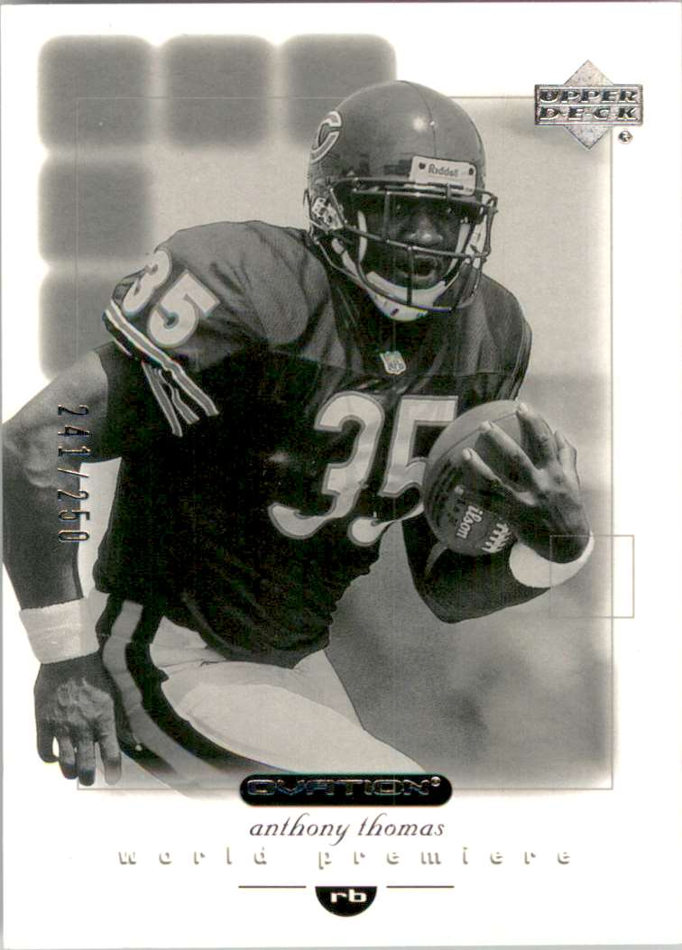 2001 Upper Deck Ovation Black And White Rookies Anthony Thomas #147 card front image