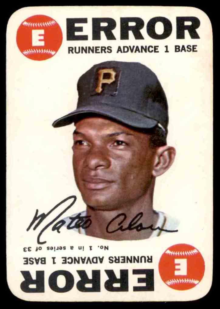 1968 Topps Game Matty Alou #1 card front image