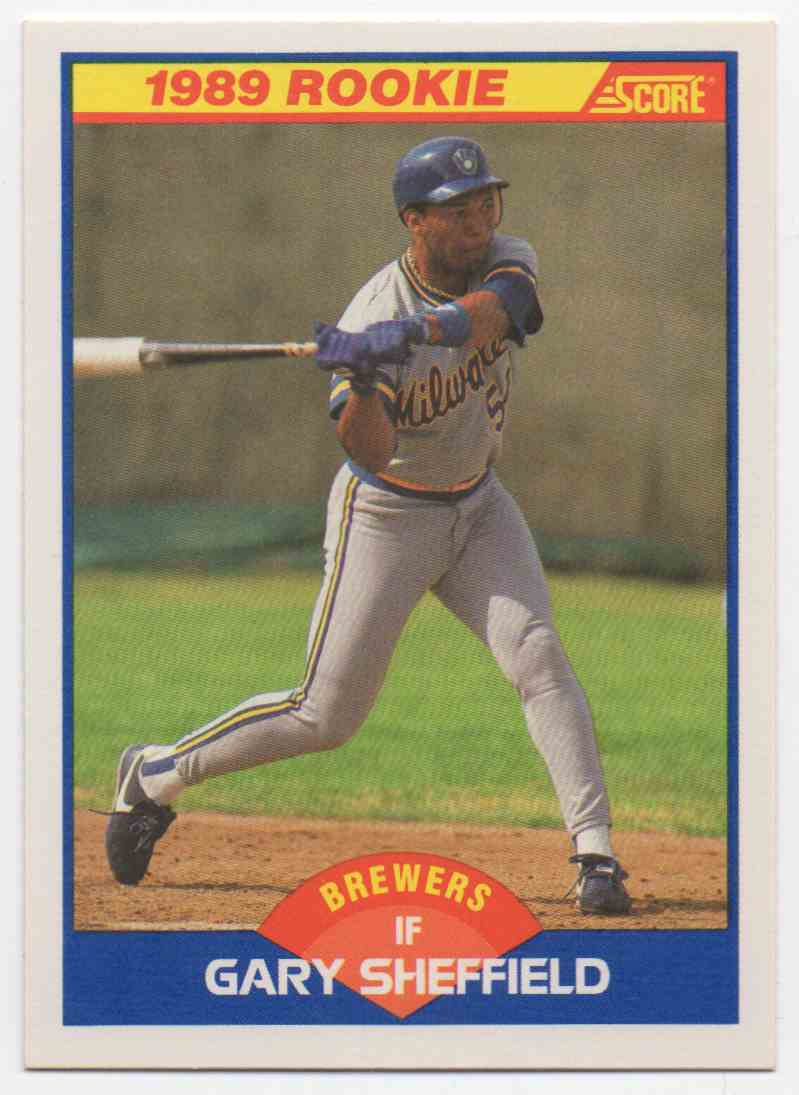 1989 Score Gary Sheffield #625 card front image