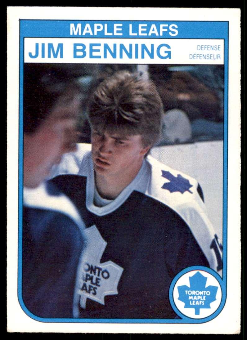 1982-83 OPC Jim Benning #317 card front image