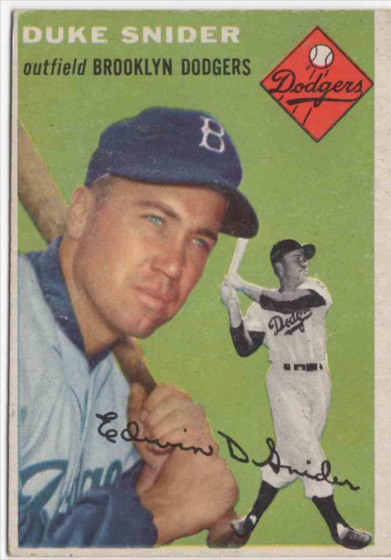 1954 Topps Duke Snider #32 card front image