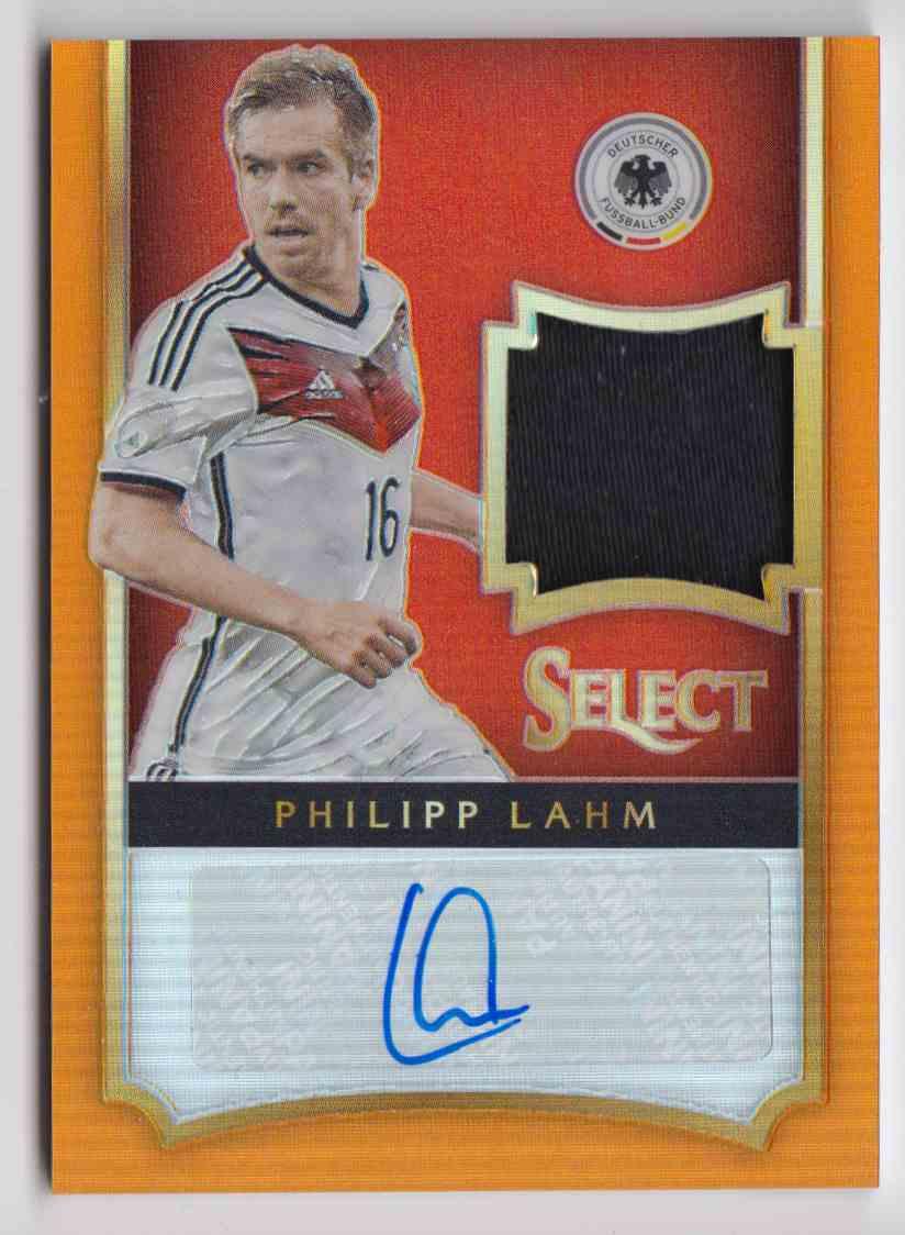 2015 Panini Select Prizm Orange Philipp Lahm #JA-PL card front image