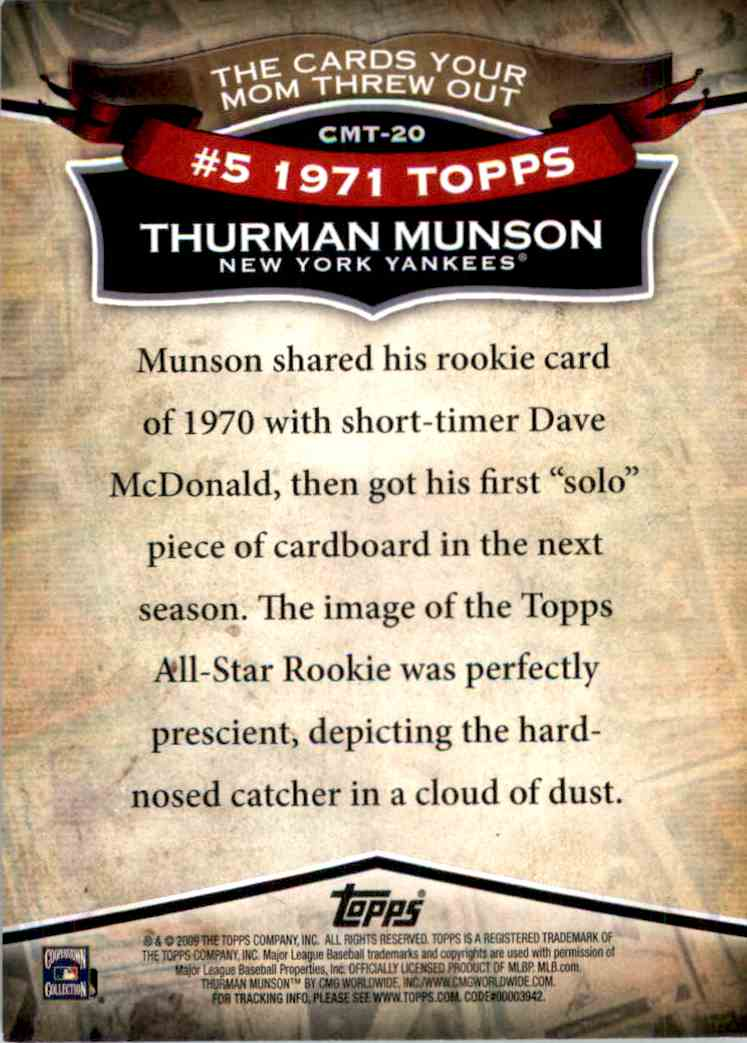 2010 Topps Thurman Munson #20 on Kronozio