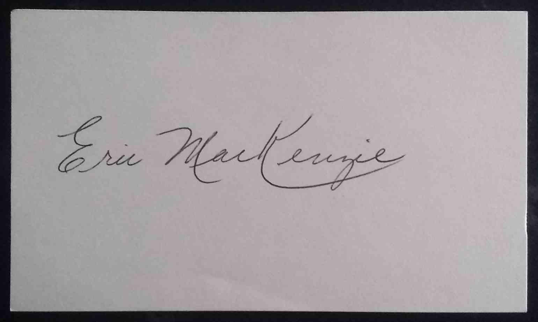 1955 3X5 Eric MacKenzie card back image