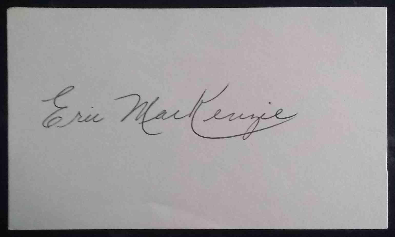 1955 3X5 Eric MacKenzie card front image